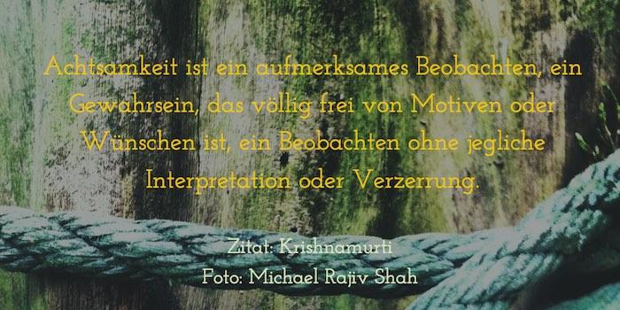 Zitat zu Achtsamkeit - Krishnamurti