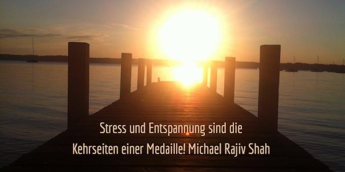 Zitate: Stress und Entspannung sind die Kehrseiten einer Medaille - Michael Rajiv Shah